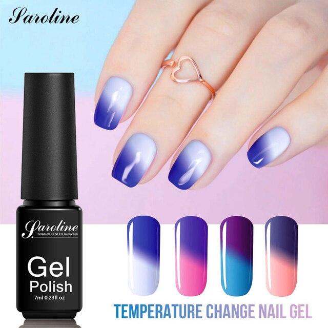 Saroline Thermo Mudança de Temperatura Gel UV Verniz Gel Nail Polish Manicure Gel Polonês Da Arte Do Prego Verniz de Mudança de Humor Cor Híbrido