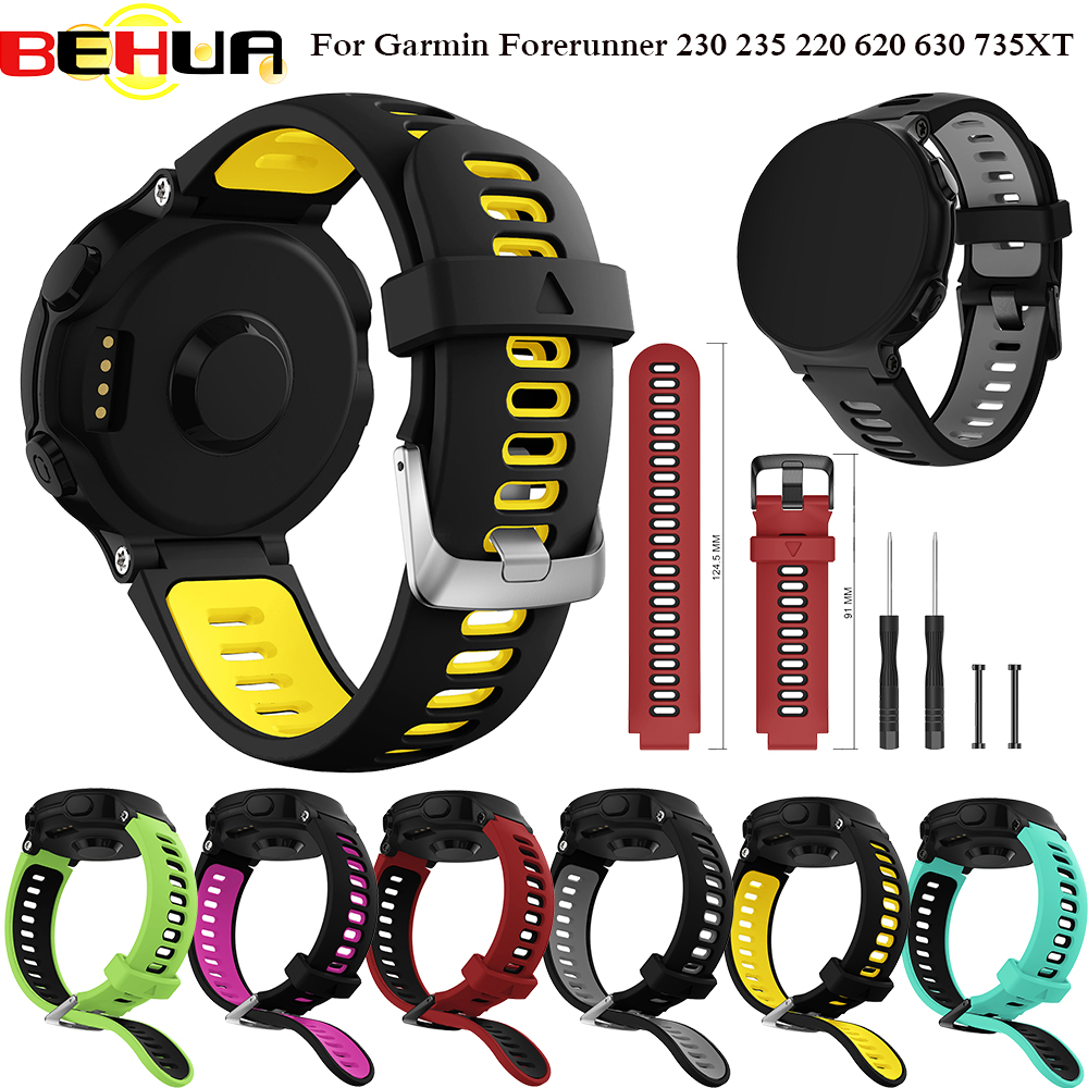 Outdoor Wristband For Garmin Forerunner 735XT Wrist Strap For Garmin Forerunner 230 235 220 620 630 735XT Smart Watch Band Belt
