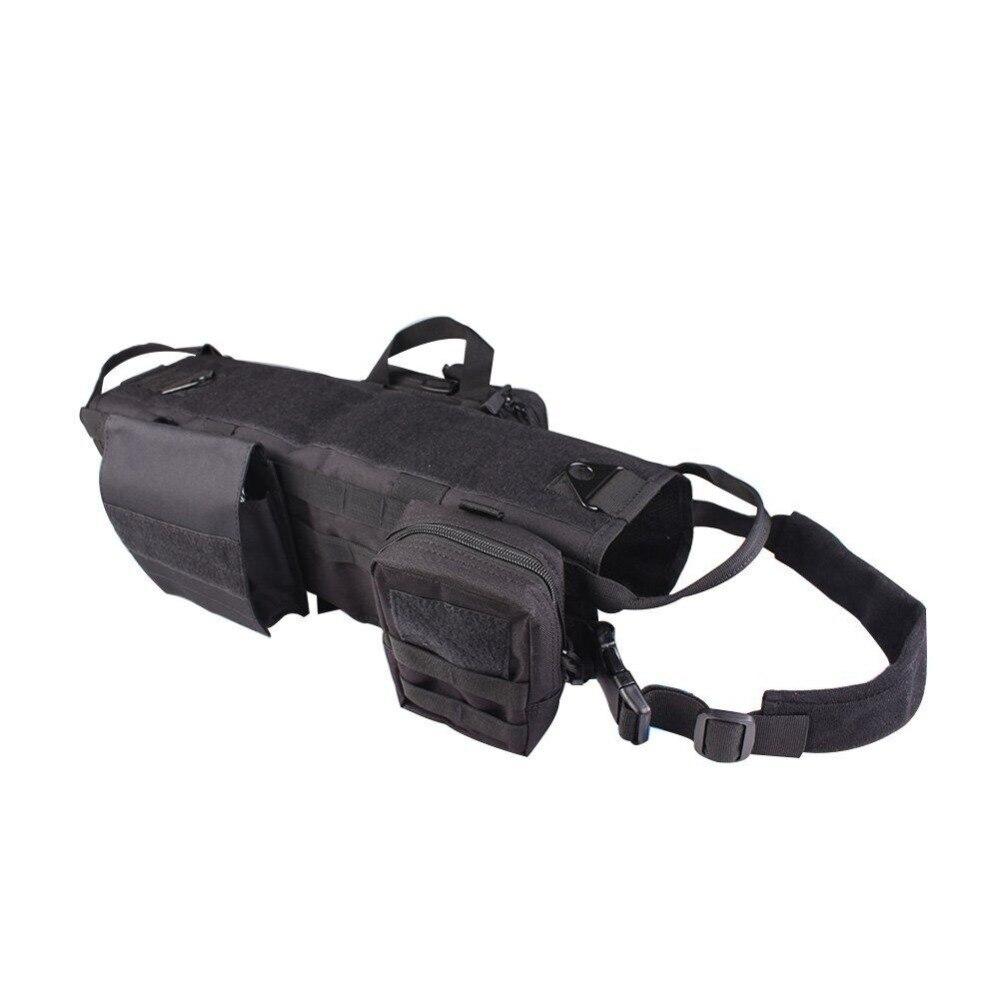Vestido táctico para perros al aire libre táctica para perros el chaleco MOLLE incluye bolso accesorio K9 correas para el pecho traje de vestir para perros Chaleco táctico de gran raza para perros, equipo táctico para fanáticos del ejército, ropa para perros, correas de pecho K9