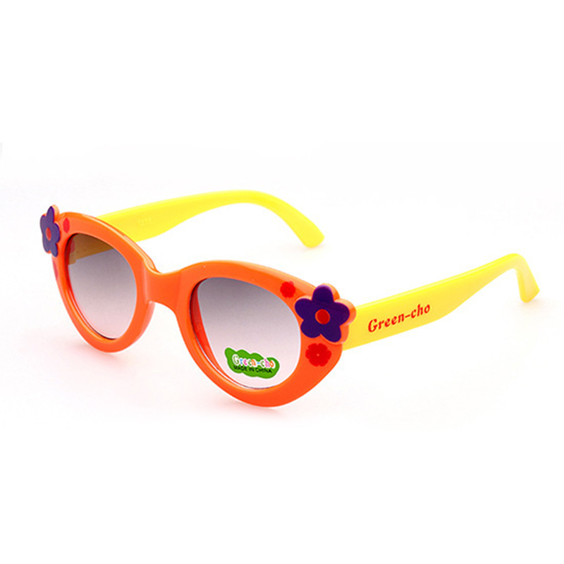 JAXIN Fashion Flowers Kids Sunglasses personalized cute Baby sunglasses Girl cartoon color goggles UV400 Baby favorite oculos in Sunglasses from Mother Kids