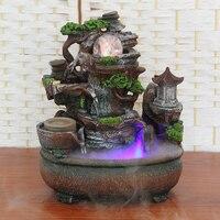 Гостиная украшения творческий домашний интерьер Zhaocai скала фонтан фэншуй круглый открыт подарки ремесла