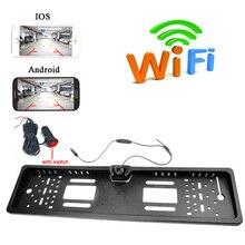Приложение wifi Автомобильная камера беспроводной видео номерной знак заднего вида камера с прикуривателем power Plug для устройство Android IOS