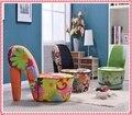 Moda zebra-stripe sofá de alta calcanhar sapato sofá sofá da tela sofá criativo venda quente