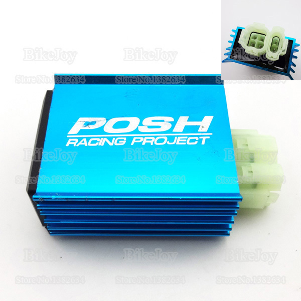 6 Pins Wires Posh Racing AC CDI Ignition Box Blue for GY6 50cc 150cc ...