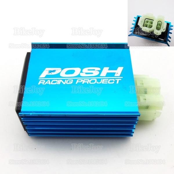 6 pins wires posh racing ac cdi ignition box blue for gy6 50cc 150cc rh aliexpress com