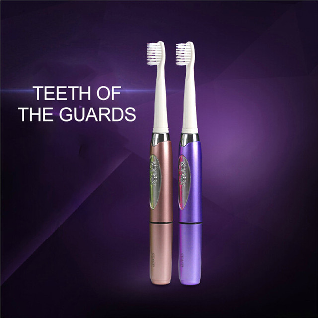 Seago Sonic  Electric Toothbrush Teeth Whitening Intelligent Variable Frequency For Adult + 3pcs Soft-bristle Brush Heads SG-659