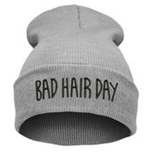 2016 Мода Плохие Волосы День Хип-Хоп Мальчиков Шапочки Шляпа Европейский вязаные Шерстяные Осень Зима Шапочки Шляпы Для Женщин И Мужчин Cap