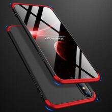 360 tam kapak için iPhone SE 2020 11 Pro Max durumda sert PC 3 In 1 iphone 7 için 8 artı X XS MAX XR 7 artı 8 artı 11 kapakları