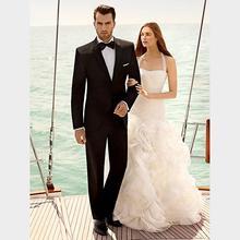 Custom black suit, men's dress, notched lapel, men's wedding, two button, groom's suit, two suits (jacket + pants)