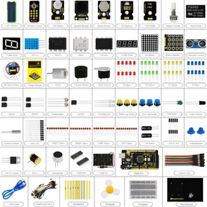 Image 2 - Keyestudio Maker Starter Kit(MEGA 2560 R3)For Arduino Project W/Gift Box+User Manual+1602LCD+Chassis+PDF(online)+35Project+Video