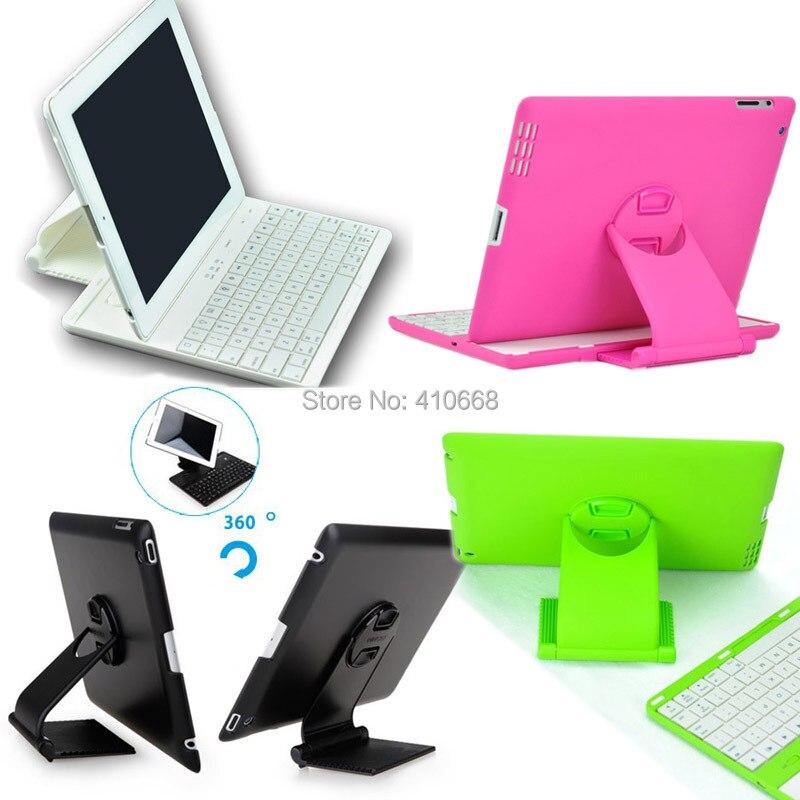 bilder für Abnehmbare 360 Grad Schwenker Drahtlose Bluetooth Tastatur-standplatz-fall-abdeckung Für iPad 2/3/4 + Stift freies Verschiffen