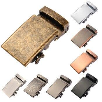 Automático hebilla de Cinturón de piel de vaca de cuero genuino 3,5 cm cinturones anchos de la hebilla para hombres de lujo hebilla automática la CE36-2207