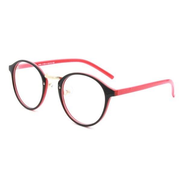 new women clear len plastic round frame nerd geek glasses eyeglasses eyewear h34
