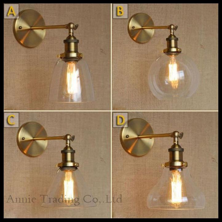 ФОТО Retro  Industrial Bronze Vintage Wall Lamp light Wall Sconce Adjustable Handle Metal Rustic  Light Sconce Fixtures