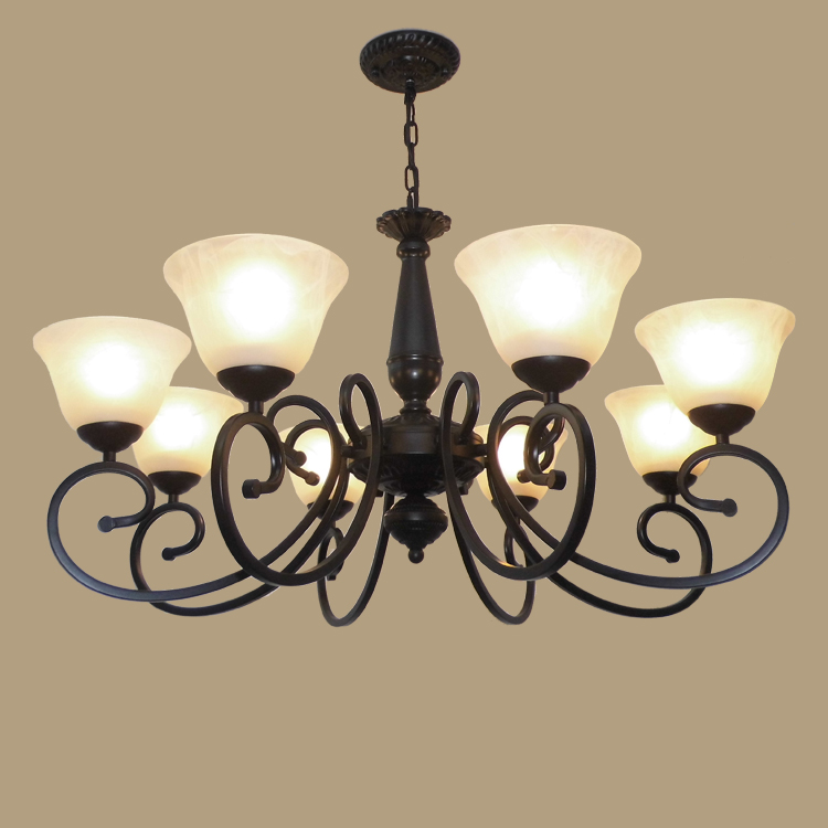pendant light 8 fashion iron lamp NEW vintage lamp bedroom lamp living room lights restaurant Pendant LAMP ZCL chinese style classical wooden sheepskin pendant light living room lights bedroom lamp restaurant lamp restaurant lights