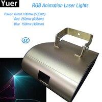 4 шт./лот RGB анимационный лазер свет светодиодный лазерный проектор рождественские украшения Лазерное освещение для дискотеки лазерный све