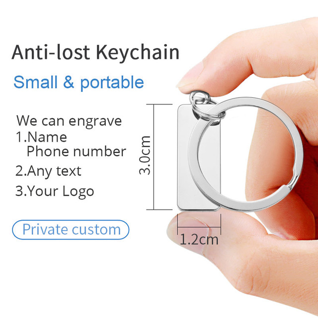 Customized Engraved Keychain For Car Logo Plate Number Personalized Gift Anti-lost Keyring Key Chain Ring P009C 5