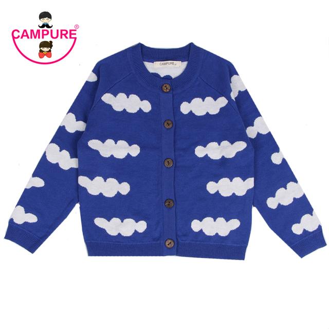 Muchachas Muchachos de la Ropa Niñas Niños Cardigan Suéteres 12M-5A CAMPURE Nubes de Algodón Suéter Suéter de Punto Suéter de Los Niños