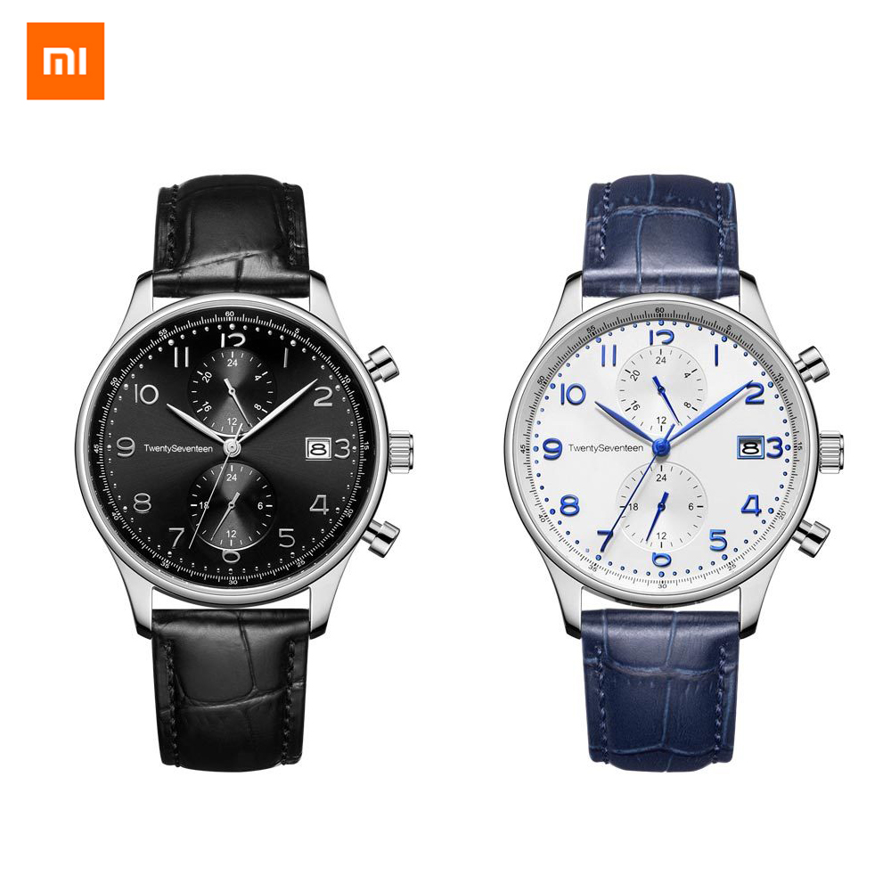 new Xiaomi Youpin TwentySeventeen Light Business Quartz Watch Dual time zone dial plate High Quality Elegance unisex 2colors image