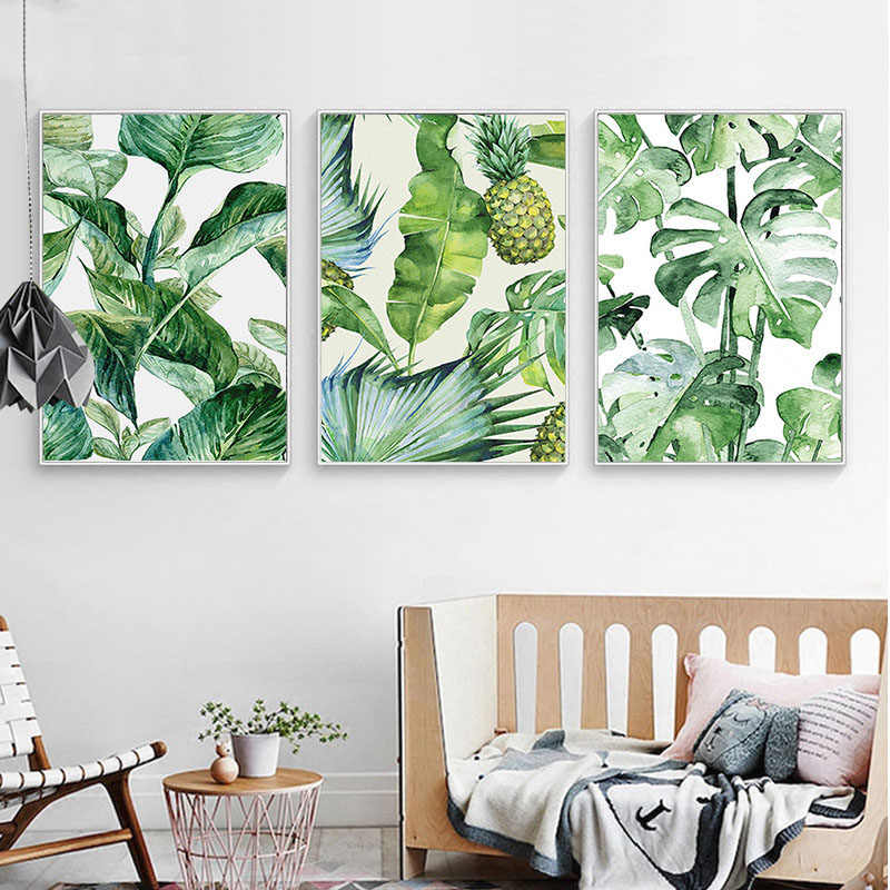 Nordic Style A4 Poster Hawaii Tropical Forest Tree Art Print Canvas Painting Monstera Leaf Landscape Pictures Home Wall Decor