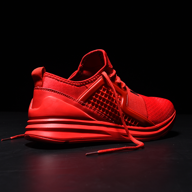 Breathable Running Shoes for Man Solid Color Black White Red Green Men Sport Shoes Men Sneakers Male Shoes Adult Gym Training