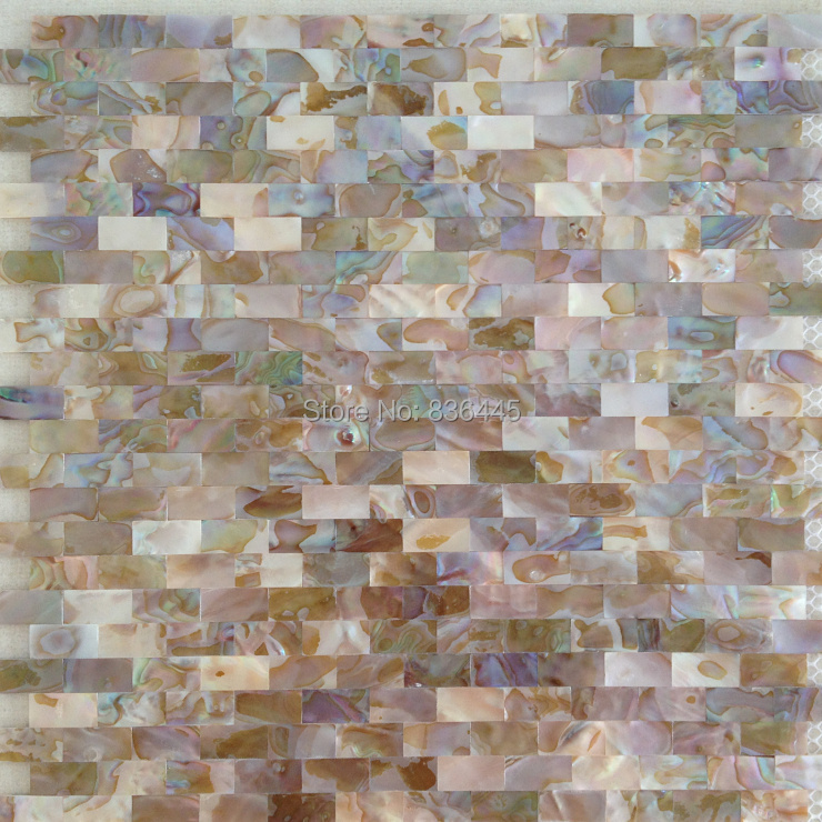 brick pattern strip symphony natural shell mosaic tile mother of