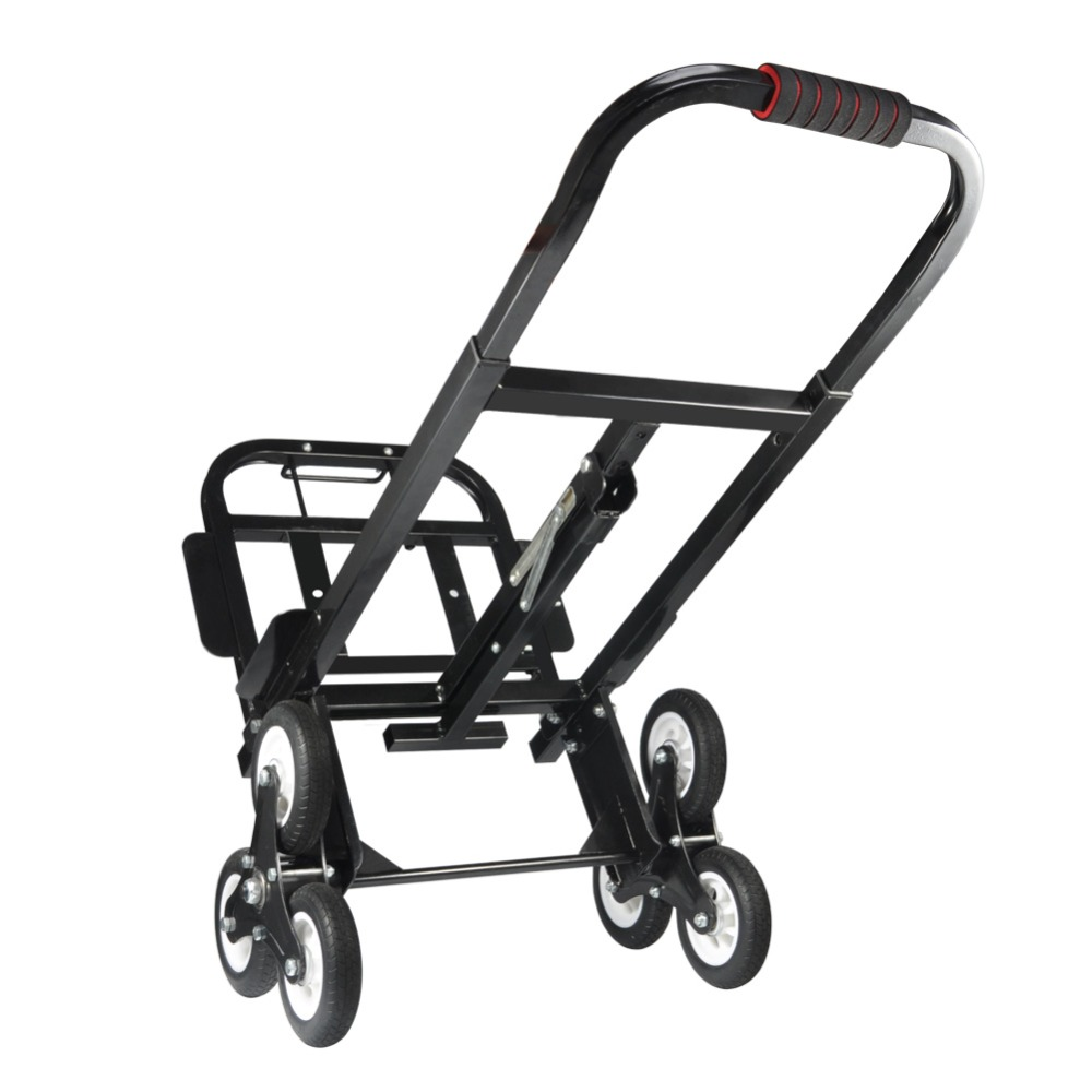 Stair Climber Hand Truck SOLID RUBBER TIRES 440LBS Barrow Hand Truck Bracket Roll Cart Trolley