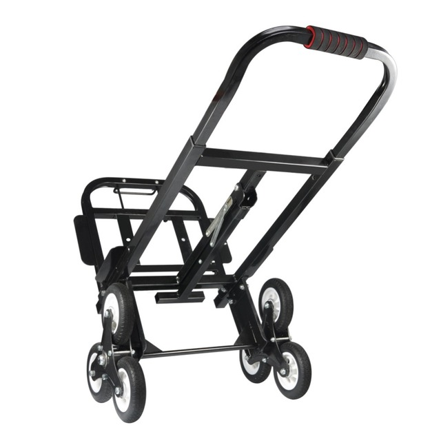 US $48 8 39% OFF|Stair Climber Hand Truck SOLID RUBBER TIRES 440LBS Barrow  Hand Truck Bracket Roll Cart Trolley on Aliexpress com | Alibaba Group