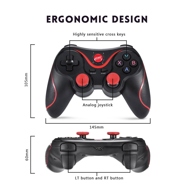 Image 5 - S5 Wireless Gamepad Joystick Bluetooth Game Controller For Mobile Phone Tablet TV Box Holder-in Gamepads from Consumer Electronics