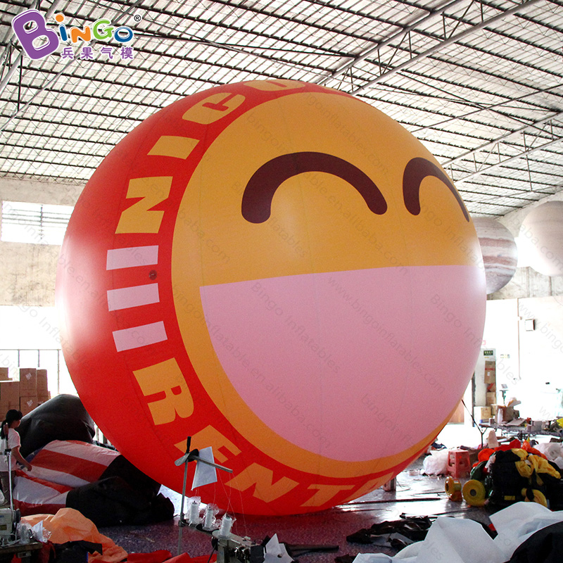 Free shipping 6M diameter giant inflatable balloon with digital printing for advertising smile face balloon for decoration toys|Inflatable Bouncers| |  - title=