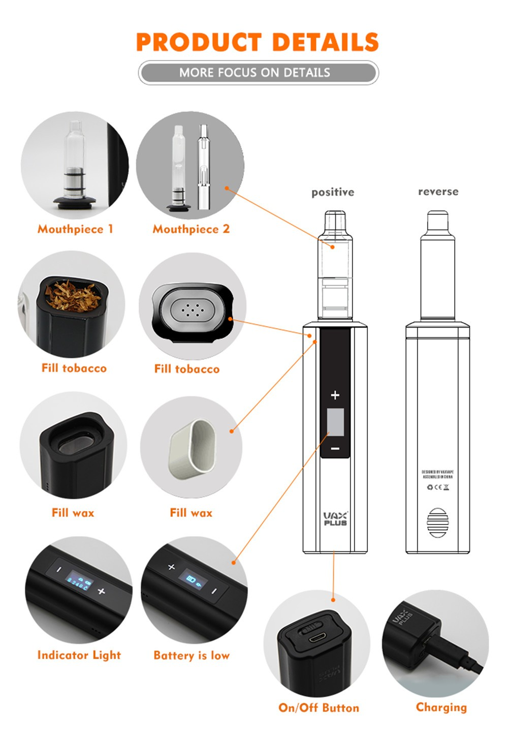 2pc HOT Vax driest & wax vaporizer 3000mah battery OLED TC electronic  cigarette screen with glass water pipe vaporizer