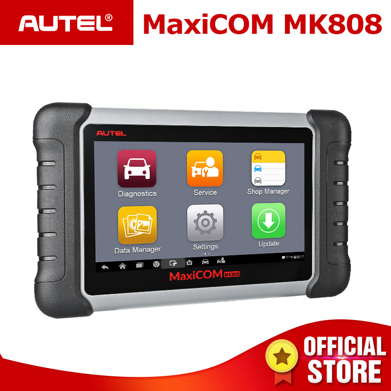 Autel MaxiCOM MK808 OBD2 Scanner avec Remise D'huile, EPB, BMS, SAS, DPF, TPMS, la programmation des touches (MD802 + MaxiCheck Pro) PK MX808