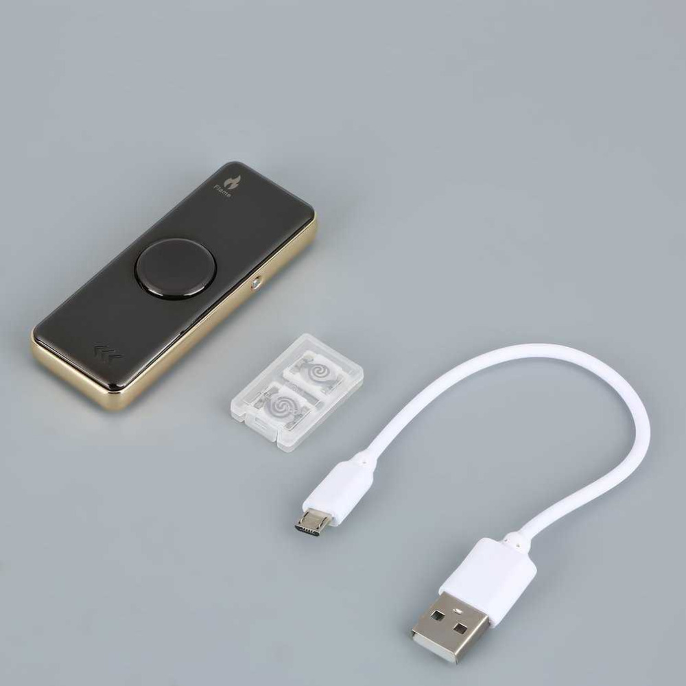 Electronic Rechargeable USB Cigarette Lighter Hand Spinner Wire Lighter Light Flash Flameless Lighter Intelligent Charging