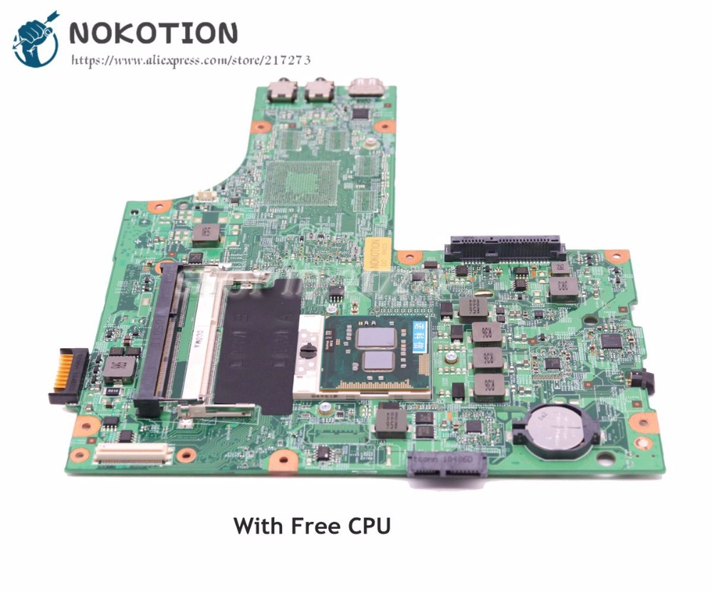купить NOKOTION CN-0Y6Y56 0Y6Y56 Y5Y56 48.4HH01.011 Main board For Dell Inspiron N5010 Laptop Motherboard HM57 DDR3 Free CPU онлайн