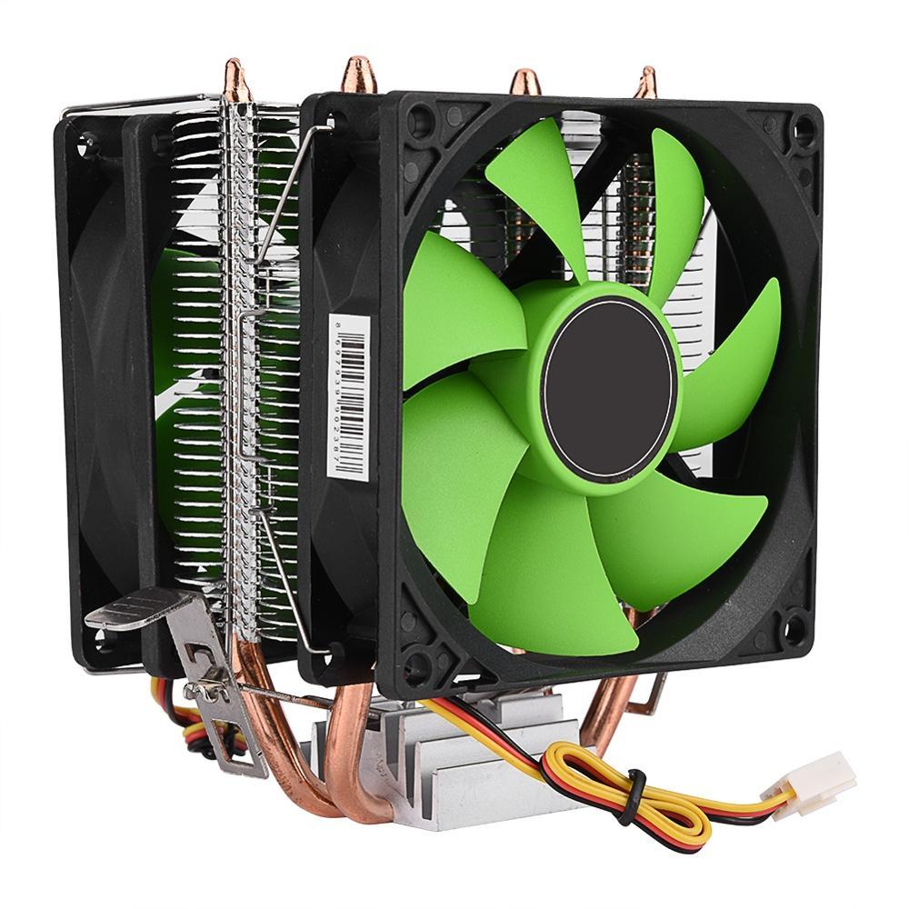 90mm Quiet CPU Dual Copper Pipe Cooler Fan for LGA 1156//1155//1151//1150//775//AM3+