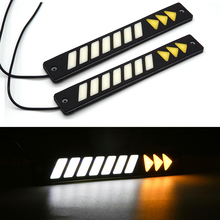 2x Car LED Silicone DRL Strip Waterproof Daytime Running Light 12V COB LED Auto Medium Light Working Lamp Car Styling Day Light 12w per set high power car led daytime running light for bmw e70 x5 suv 2007 2009 led drl day light 12v waterproof drl kits