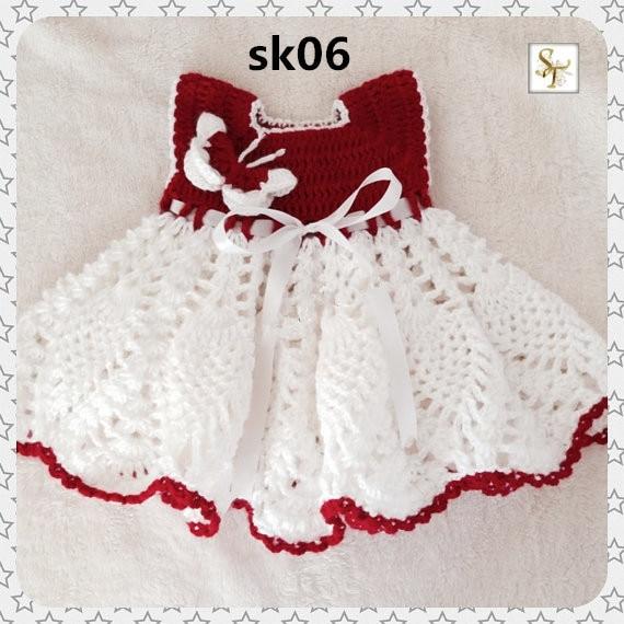 Crochet vestido de mariposa, piña bebé, ganchillo vestido del bebé ...