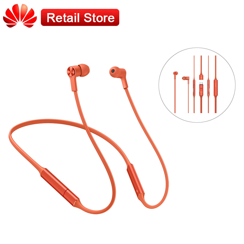 Huawei FreeLace Sport Earphone HiPair Bluetooth Wireless Headset Magnetic Switch Fast Charge Memory Metal Cable 120mAh