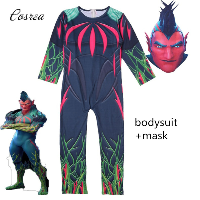 Game Modle Cosplay Flight Trap Costume Onesie Kids Suit for Boy Spandex Catsuit Zentai Jumpsuit Bodysuit Costume Brithday Gift