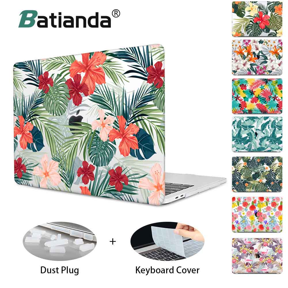 For MacBook Air Pro Retina 11 12 13 15 Case For Funda Macboook Pro 13.3 15Touch Bar Beautiful Floral Print Laptop Hard Cover свитшот print bar pro gamer page 7