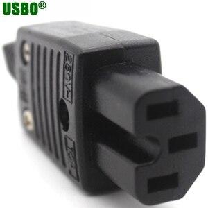 Image 3 - 250v 10a IEC320 C13 C14 C15 AC PDU UPS verdrahtete steckdose inline kabel montieren installieren elektrische Panel Buchse AC buchse