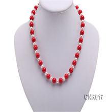 Jyx элегантное 10 мм Красное круглое коралловое ожерелье модное
