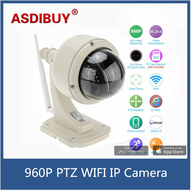 Real 960P 1.3MP Waterproof Wireless WiFi IP Camera Outdoor PTZ dome Security Camera 2.8-12mm Autofocus 4X zoom Home surveillance