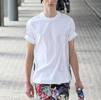 S-6XL!!!2018 shirt solid color pullover short-sleeve shirt roll-up hem thin thread male brief