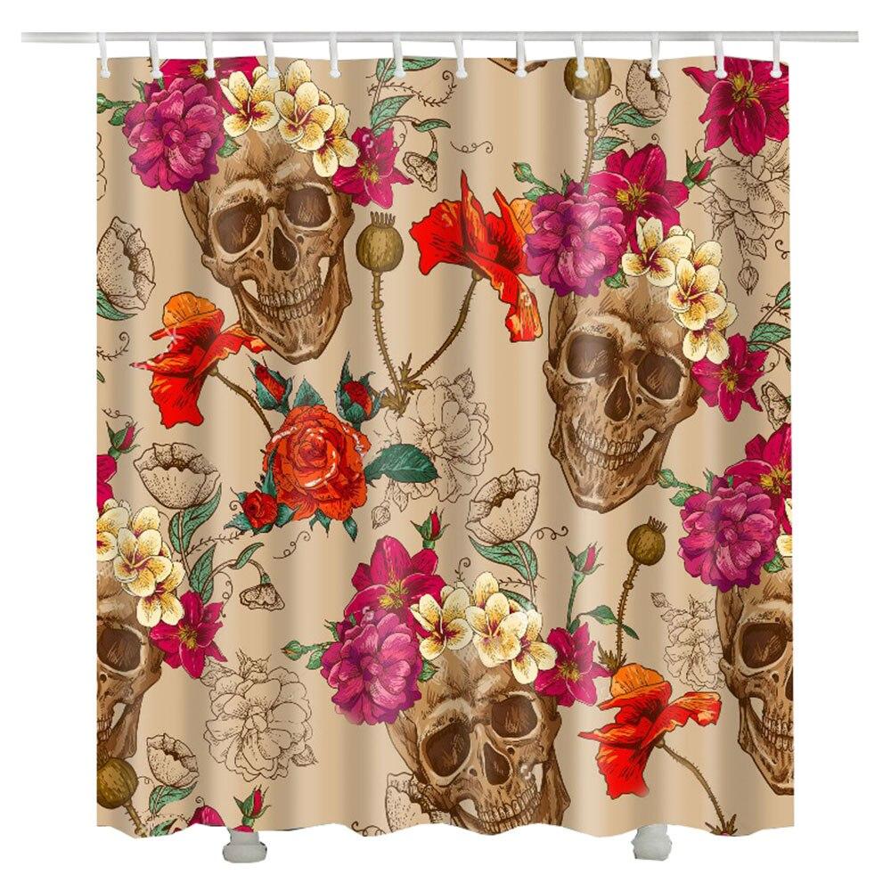 3D Flower rose shower curtain 2017 new waterproof polyester ...