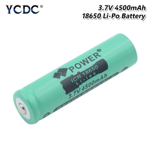 1/2/4 Pcs New 3.7V 4500mAh ICR 18650 Lithium Li Ion Battery Rechargeable Button Top Torch Flashlight Replacement Batteries