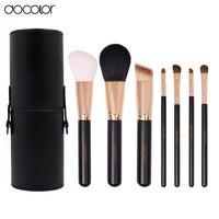 Docolor 7 Makeup Brush Set Synthetic Hair Powder Foundation Eyeshadow Lip Eyebrow Brush Tool Black And