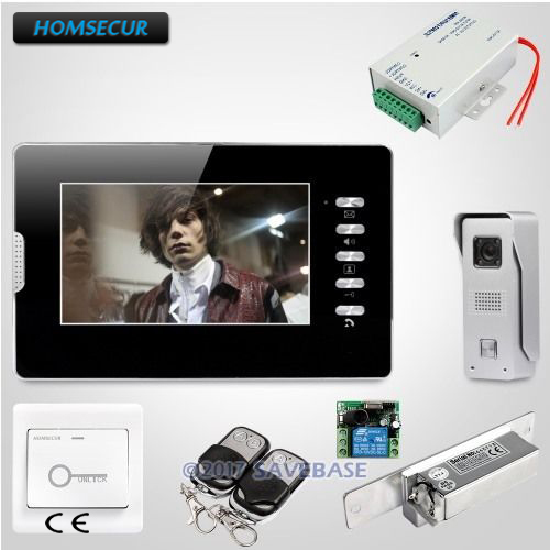 HOMSECUR 7 дюймов громкой видеодомофон Системы с Strike замок для дома ...