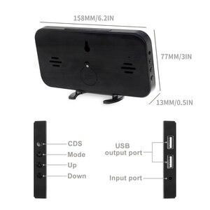 Image 3 - Большой светодиодный Будильник с голосовым управлением, электронный настольный цифровой будильник nixie с большим количеством дисплеев, с подсветкой