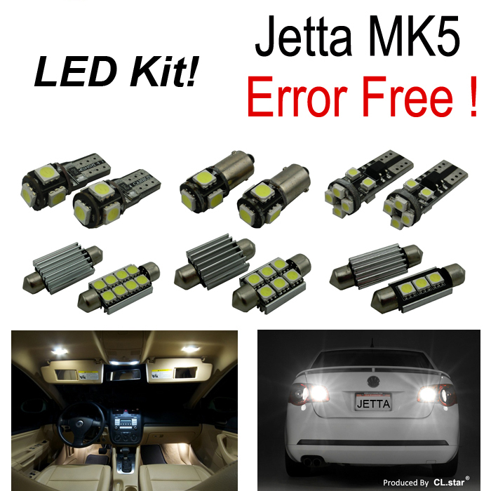 20pc X  Error free for Volkswagen jetta MK5 LED car interior light reverse light parking city LED light kit package (2005-2010) carprie super drop ship new 2 x canbus error free white t10 5 smd 5050 w5w 194 16 interior led bulbs mar713